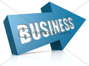 Business blue arrow
