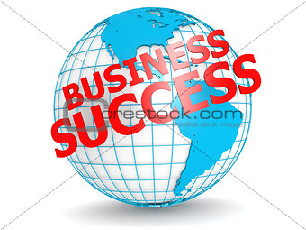 Business success with globe