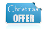 Christmas offer blue sticker