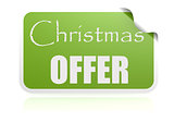 Christmas offer green sticker