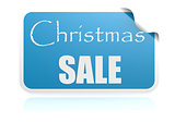 Christmas sale blue sticker