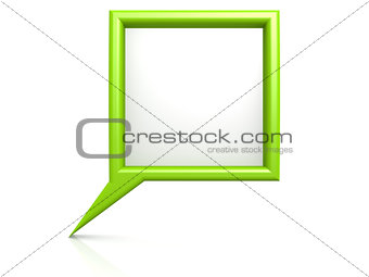 Green dialog bubble