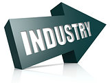 Industry blue arrow