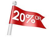 Off 20 percent