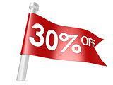 Off 30 percent