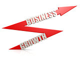 Red business growth arrow