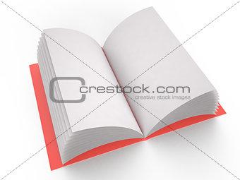 Blank notebook, 3D