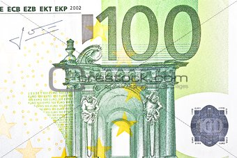 one banknote 100 euro