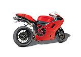 red super sports motorbike