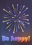 firework illustration - be happy!