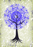 Abstract tree with background