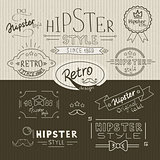 Retro hipster stamps