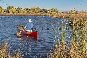 afternoon canoe paddling