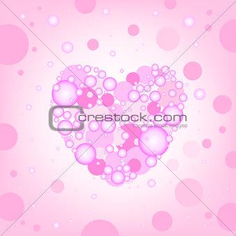 circular heart effects background