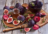 Figs, plums and honey