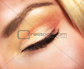 Beautiful autumnal makeup
