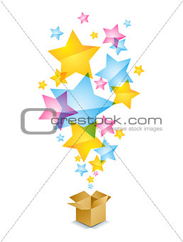 Box with stars