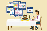 birthday in social networks