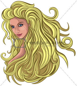 Blond with long hair