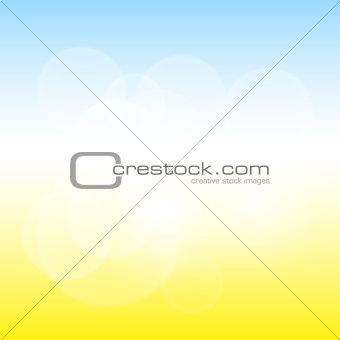 Abstract sunny blur bokeh
