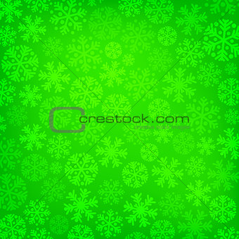 Abstract green christmas background
