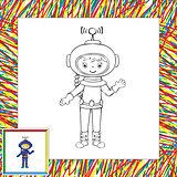 Funny vector astronaut