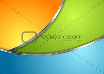 Corporate design with metallic waves