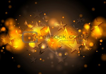 Abstract shiny stars background
