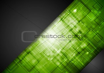 Abstract dark green tech background