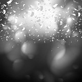 Black and white confetti background