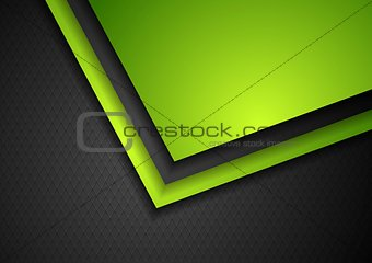 Abstract green and black tech corporate design
