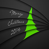 Christmas Greeting Card, Merry Christmas lettering