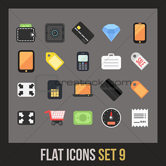 Flat icons set 9