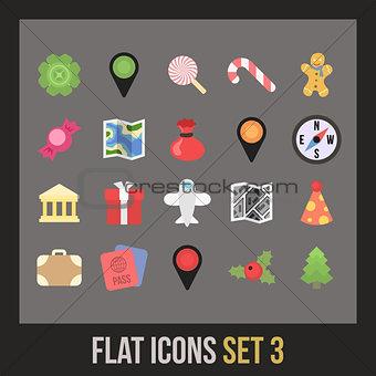 Flat icons set 3