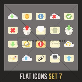 Flat icons set 7