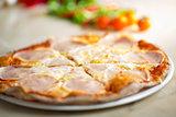 Pizza carbonara portions