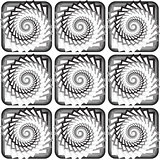 Design seamless monochrome vortex twisting pattern