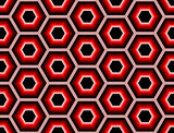 Design seamless colorful hexagon geometric pattern