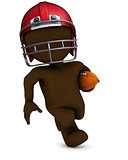 Morph Man playing american football