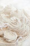 Homemade zephyr on white background
