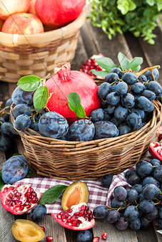 Fresh autumn fruits