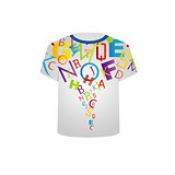 Printable tshirt graphic- Colorful letters