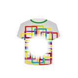 Printable tshirt graphic- colorful shapes