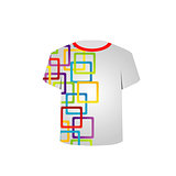 Printable tshirt graphic- colorful shapes