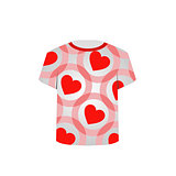 Printable tshirt graphic- Valentine Hearts