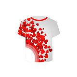 Printable tshirt graphic- Valentine Hearts