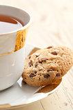 chocolate cookies with tea