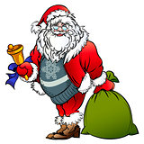 Santa Claus with a bell and bag