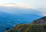 Top morning mountain  view (Greece,  Kefalonia).