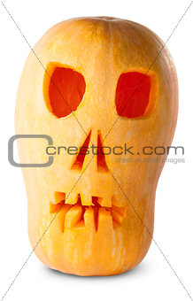 Skull Pumpkin Halloween Jack O_Lantern